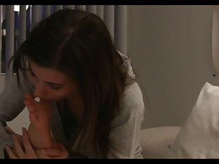Cute Emily Licks Her Feet