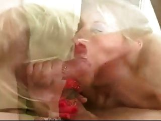Sloppy Gagging Blonde Slut Tries To Get It Down - Kcxxx