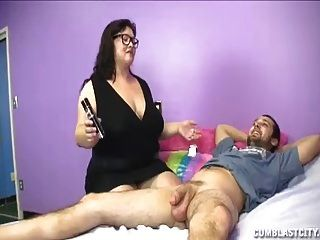 Big-sized Milf Jerking Her Daughters Boyrfiend
