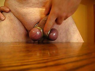 Spread Balls And Cum