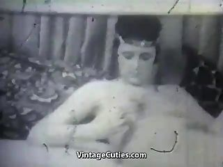 Mature Lady With Her Vibrator And Boy (1950s Vintage)