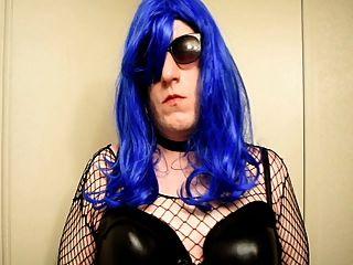 Bbw Crossdresser Slut Smokes And Practices Sucking Cock