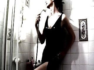 Black Latex White Shower
