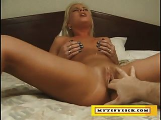 Cute Blonde Fingered And Blows