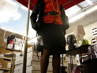 Crossdresser Upskirt In The Supermarket