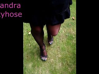 My Legs  With Black Pantyhose 01