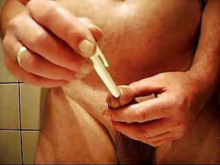 German Cock Play With His Dick And Cum