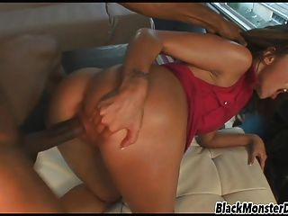 Anal Pounded By Black Cock