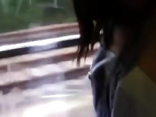 Hot Couple In A Train