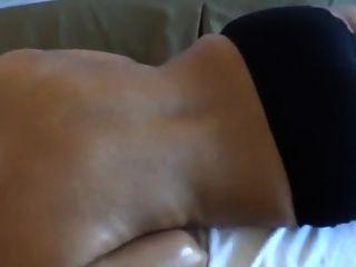 Husband Massaging Indian Wife