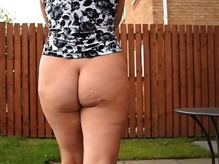 Mature Neighbor Walks With Bare Ass Outdoors