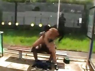 Hooker Fucks Black Guy In Public !!!
