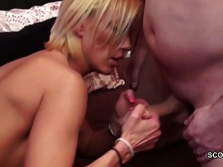 Hot German Milf Mom Seduce To Fuck By Two Young Man
