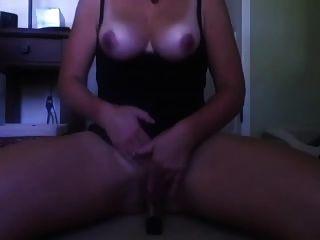 Milf With Big Boobs Riding Her Dildo
