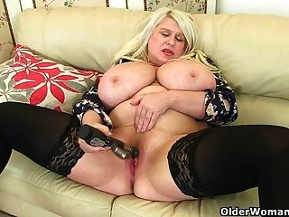 Big Titted Milf Sam Fucks Herself With A Dildo