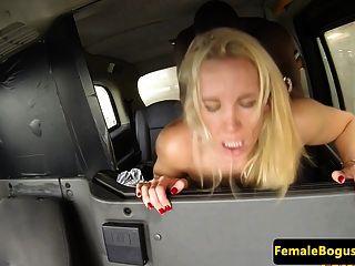 Busty English Cabbie Cockriding Black Dick