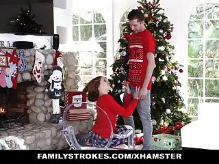 Familystrokes - Fucking My Sis During Holiday Christmas Pics