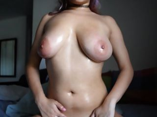 Beautiful Girl Play With Her Big Boobs