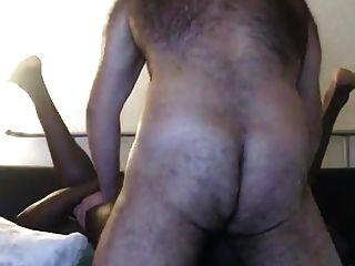 Hairy White Nerd Breeds Black Muscle Jock