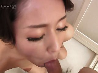 Japanese Mature Sucks Cock In Shower (uncensored Jav)