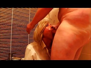 Daddy Piss And Cums On His Little Slut