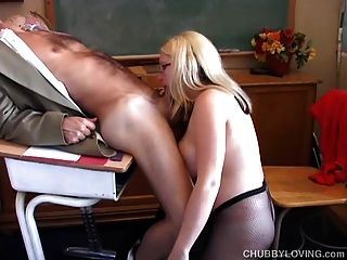 Busty Blonde Bbw Gives An Amazing Sloppy Blowjob