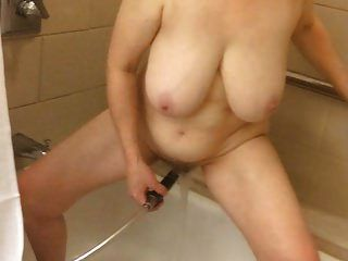 60+ Big Tits Mom Shower Masturbation By Marierocks
