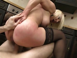 Taboo Sex On Kitchen With Milf And Son