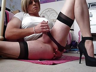 Crossdresser Fingering And Wanking