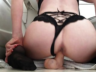 Riding My Dildo From Behind