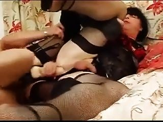 Naughty Couple Fucks Crossdressers Together