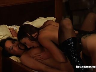 Lesbian Mistress Making Love With Slave