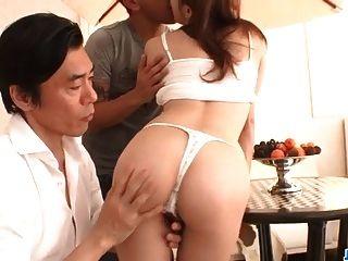 Reon Otowa, Asian Model, Endures Hardcore Threesome