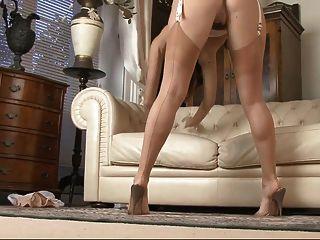 Amazing Stockings Tease