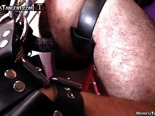 Tangent And Cybil Whipping And Strapon Femdom In Leather