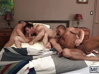 Handsome Old And Young Men Have An Orgy