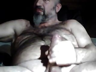 Not Daddy Bearded Bear Stroking His Thick Dick