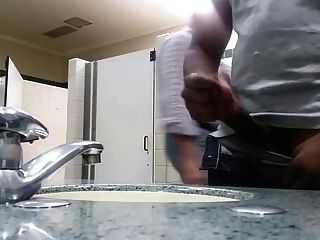 Black Perv Caught Jerking In Restroom