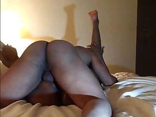 Black Amateur Chick Gets Big Booty Drilled