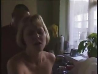 Blonde Smashed In Kitchen