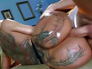 Bubble Butt Girl Taking Facial