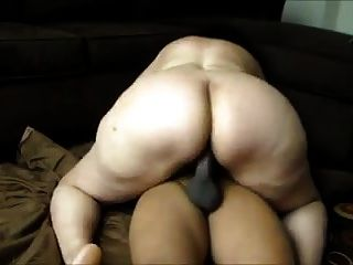 Bbw Pushing A Black Cock Intoo Her Holes