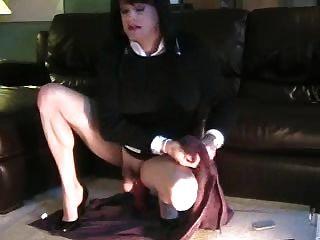 Sexy Stephanie Cd With Huge Dildo