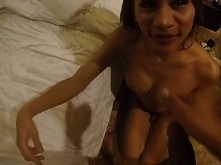 Brown Dick For Petite Thai Ladyboy Prostitute P3 Facial