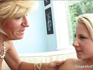 Hot Milf Licks Her Blonde Stepdaughter