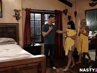 Mom And Adopted Daughter Caught On - Nina Elle, Gina Valenti