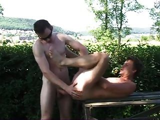 Hung Dad With Dude In Park