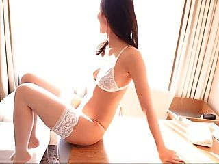 Risa - White Lingerie Thigh High Pantyhose (non-nude)