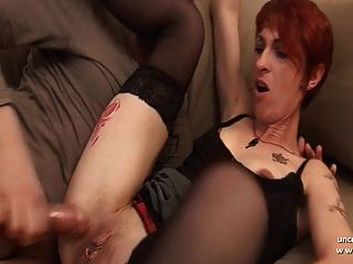 Amateur French Redhead Housewife Sodomized With Ass To Mouth