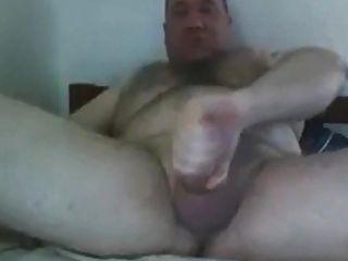 Hot Daddy Bear Shooting A Nice Load